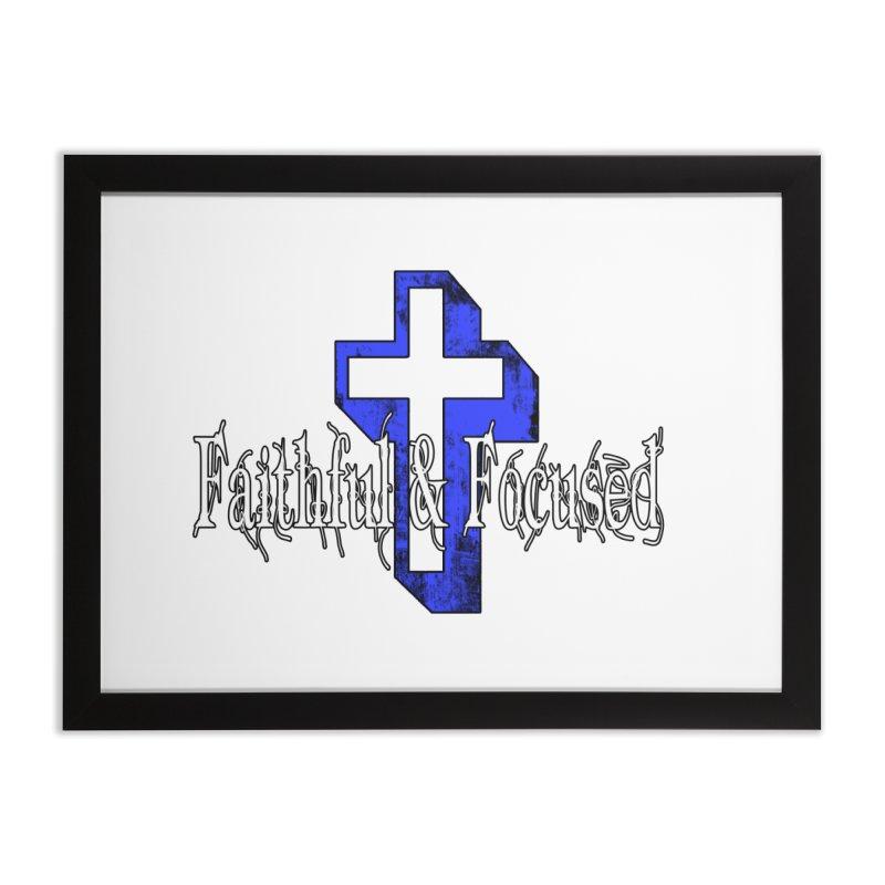 Blue Cross Home Framed Fine Art Print by Faithful & Focused Store