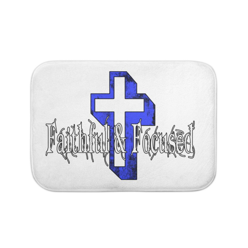 Blue Cross Home Bath Mat by Faithful & Focused Store