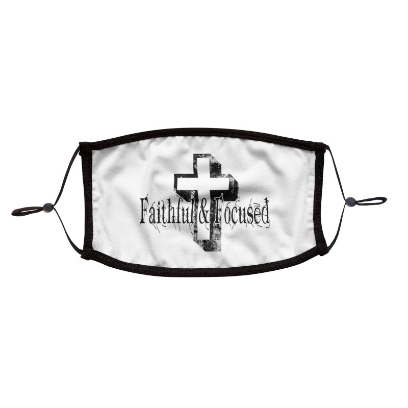 Faithful Center Blk Cross Accessories Face Mask by Faithful & Focused Store