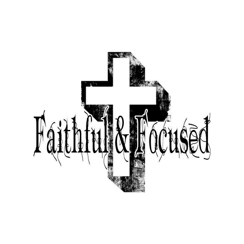 Faithful Center Blk Cross Home Shower Curtain by Faithful & Focused Store