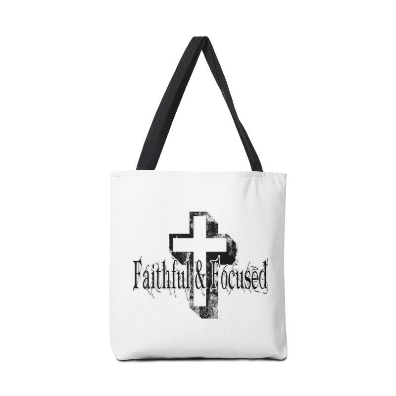 Faithful Center Blk Cross Accessories Bag by Faithful & Focused Store