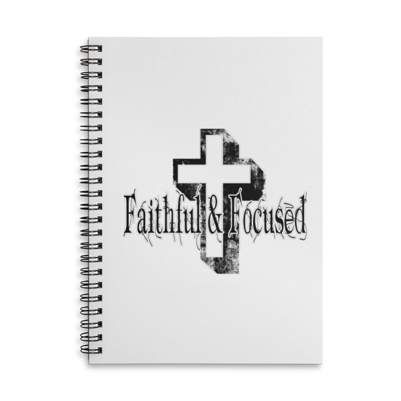 Faithful Center Blk Cross Accessories Notebook by Faithful & Focused Store