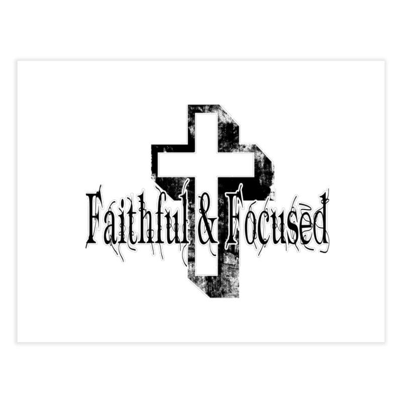 Faithful Center Blk Cross Home Fine Art Print by Faithful & Focused Store