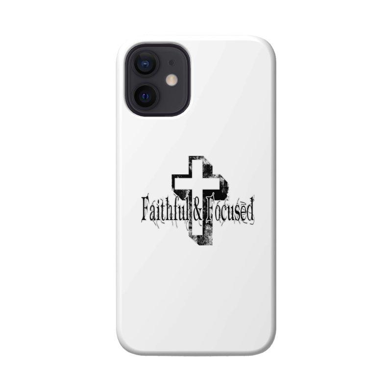 Faithful Center Blk Cross Accessories Phone Case by Faithful & Focused Store