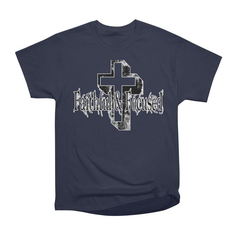 Faithful Center Blk Cross Men's T-Shirt by Faithful & Focused Store