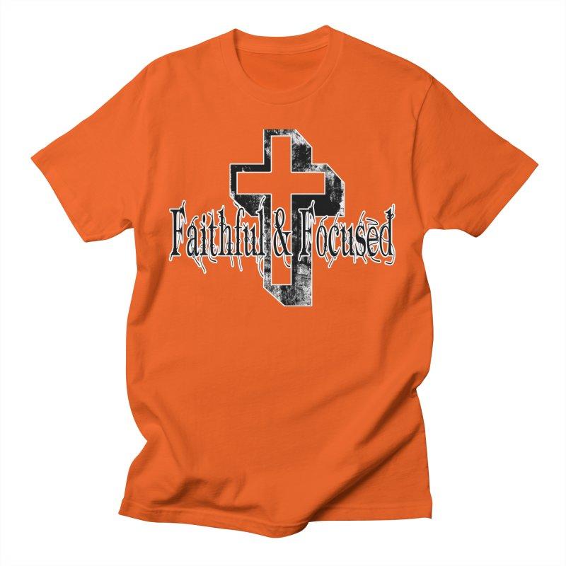 Faithful Center Blk Cross Women's T-Shirt by Faithful & Focused Store