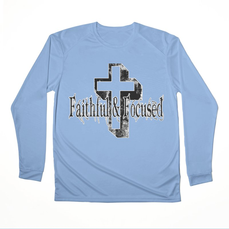 Faithful Center Blk Cross Men's Longsleeve T-Shirt by Faithful & Focused Store