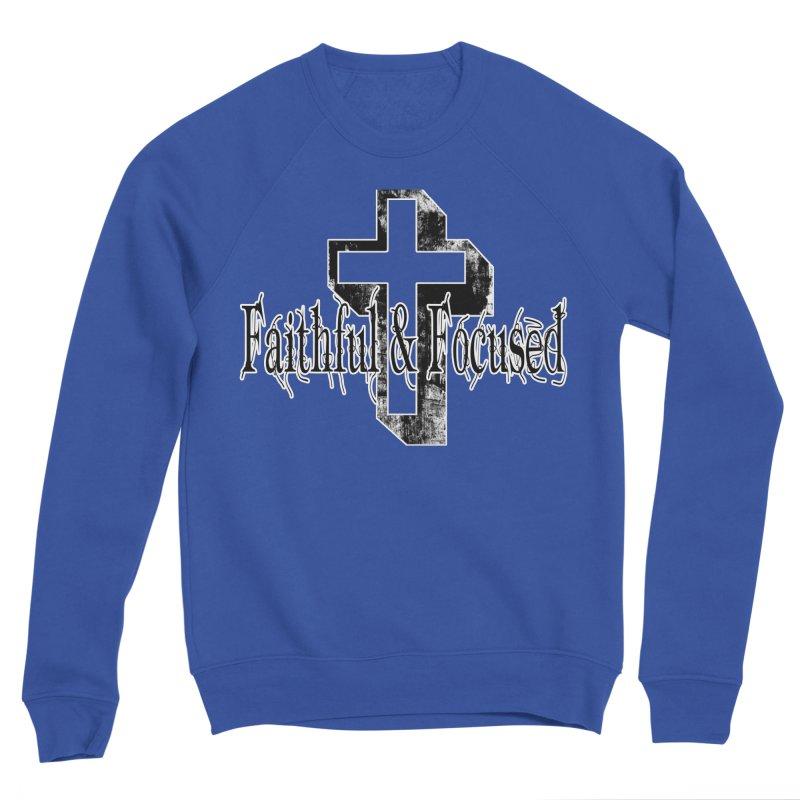 Faithful Center Blk Cross Men's Sweatshirt by Faithful & Focused Store