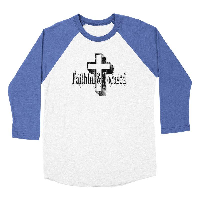 Faithful Center Blk Cross Women's Longsleeve T-Shirt by Faithful & Focused Store