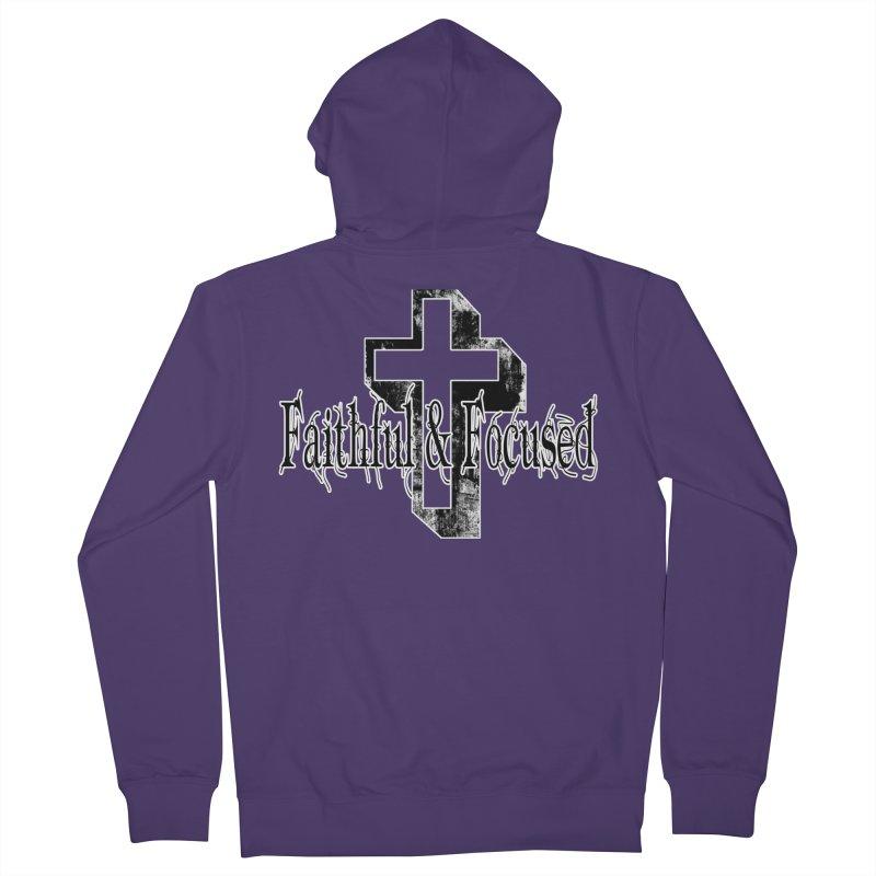 Faithful Center Blk Cross Women's Zip-Up Hoody by Faithful & Focused Store