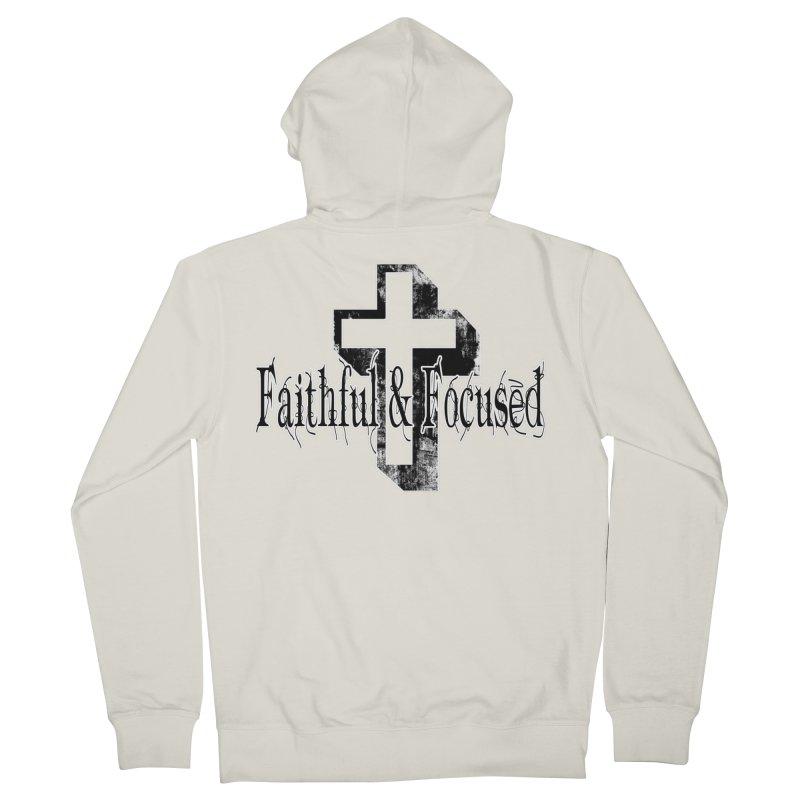 Faithful Center Blk Cross Men's Zip-Up Hoody by Faithful & Focused Store