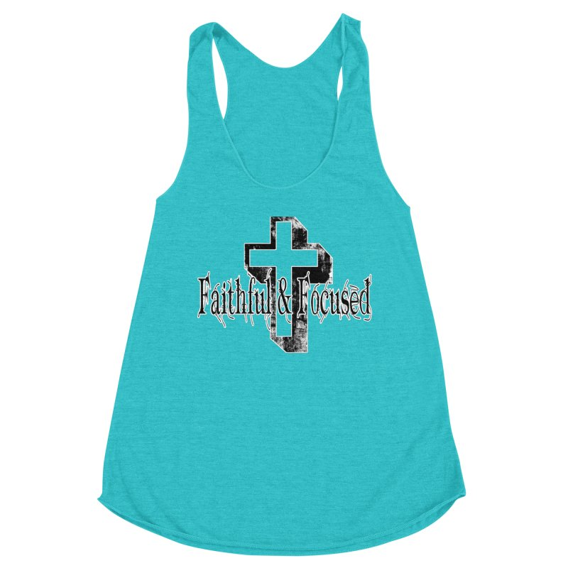 Faithful Center Blk Cross Women's Tank by Faithful & Focused Store