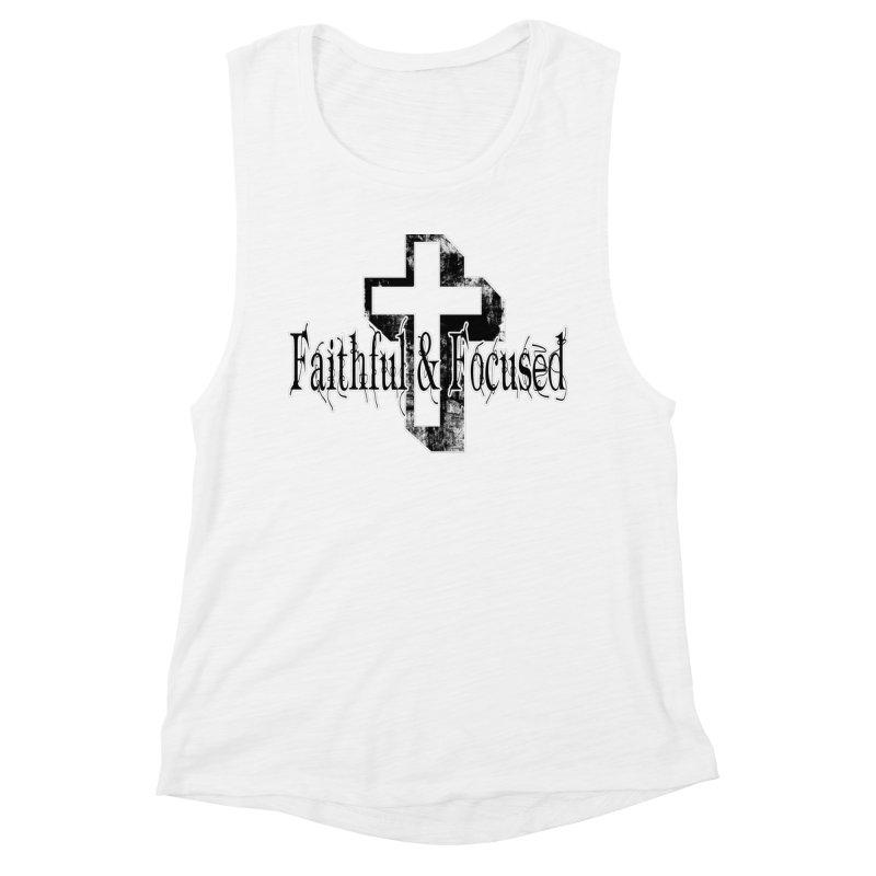 Faithful Center Blk Cross Women's Tank by Faithful & Focused Store