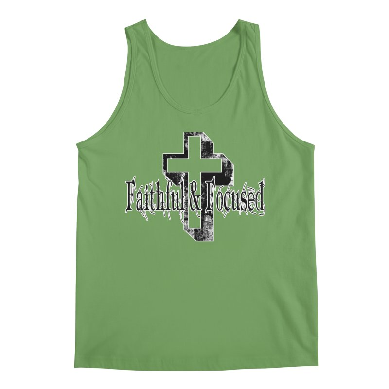 Faithful Center Blk Cross Men's Tank by Faithful & Focused Store