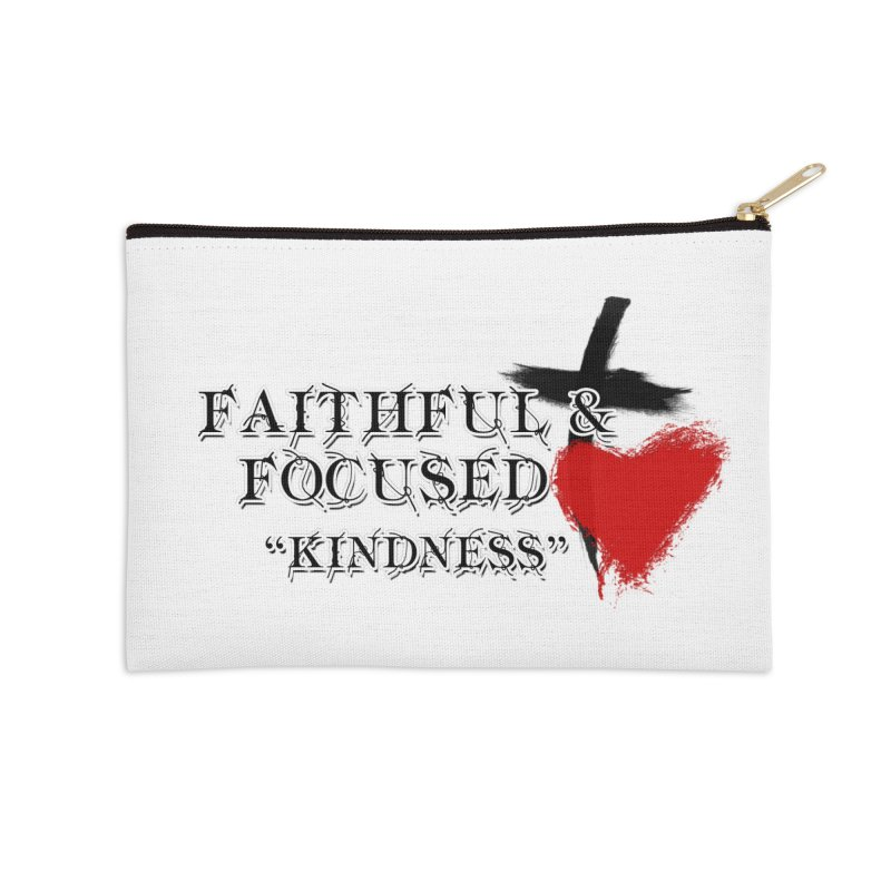FAITHFUL HEART Accessories Zip Pouch by Faithful & Focused Store