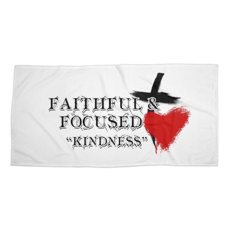 FAITHFUL HEART Accessories Beach Towel by Faithful & Focused Store