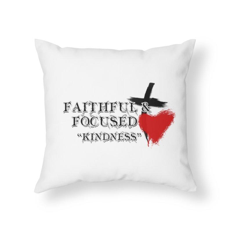FAITHFUL HEART Home Throw Pillow by Faithful & Focused Store