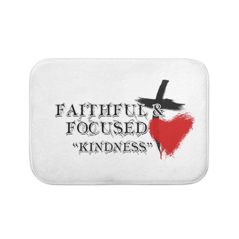 FAITHFUL HEART Home Bath Mat by Faithful & Focused Store
