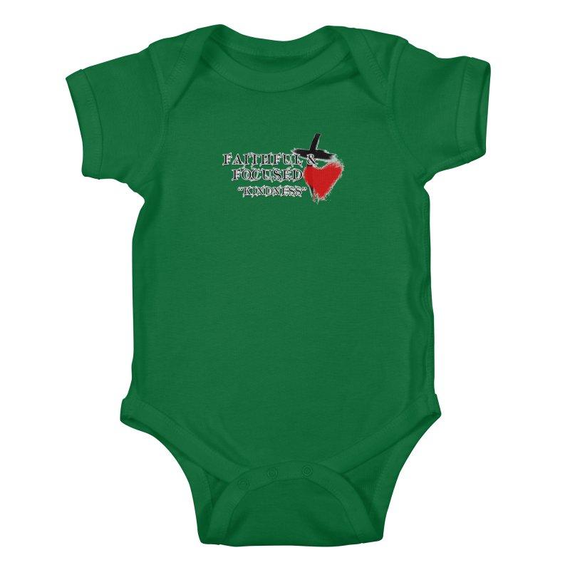 FAITHFUL HEART Kids Baby Bodysuit by Faithful & Focused Store