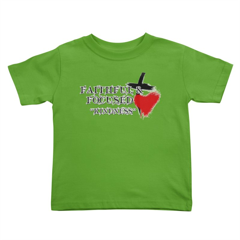 FAITHFUL HEART Kids Toddler T-Shirt by Faithful & Focused Store
