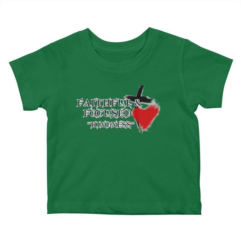 FAITHFUL HEART Kids Baby T-Shirt by Faithful & Focused Store