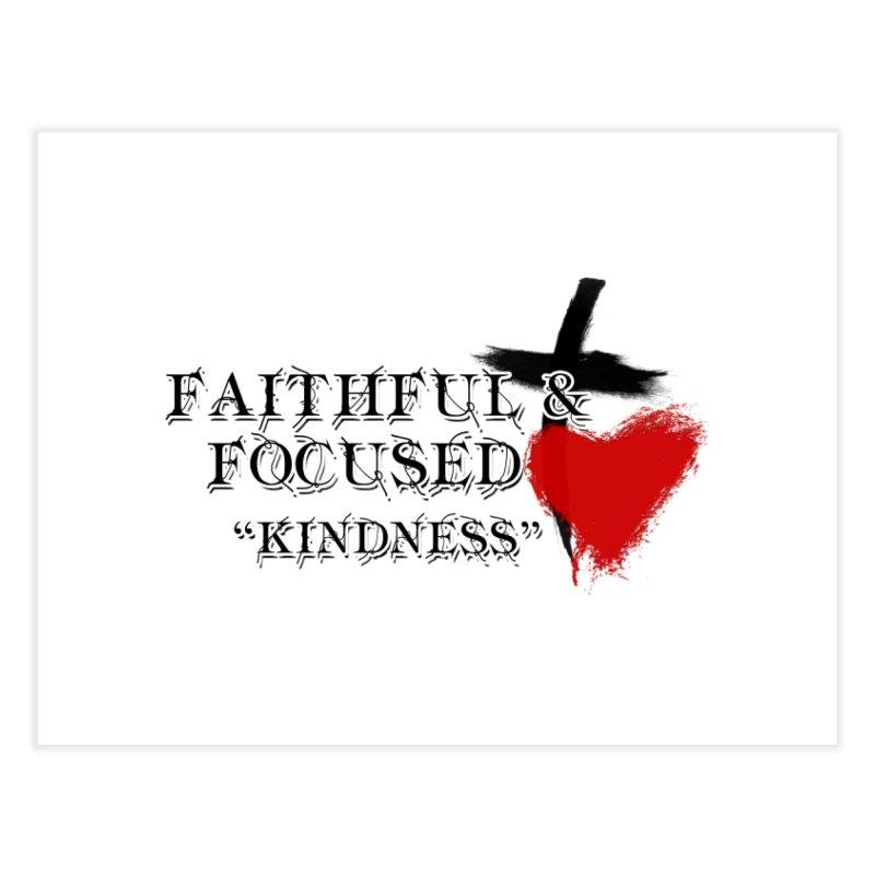 FAITHFUL HEART Home Fine Art Print by Faithful & Focused Store