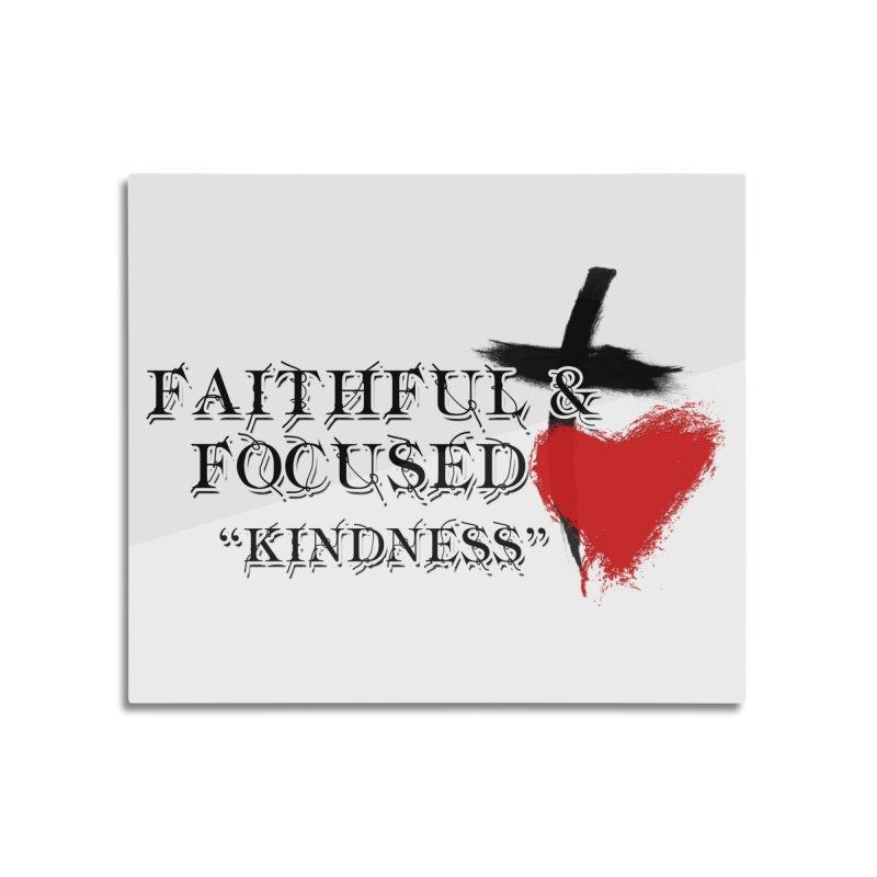 FAITHFUL HEART Home Mounted Aluminum Print by Faithful & Focused Store