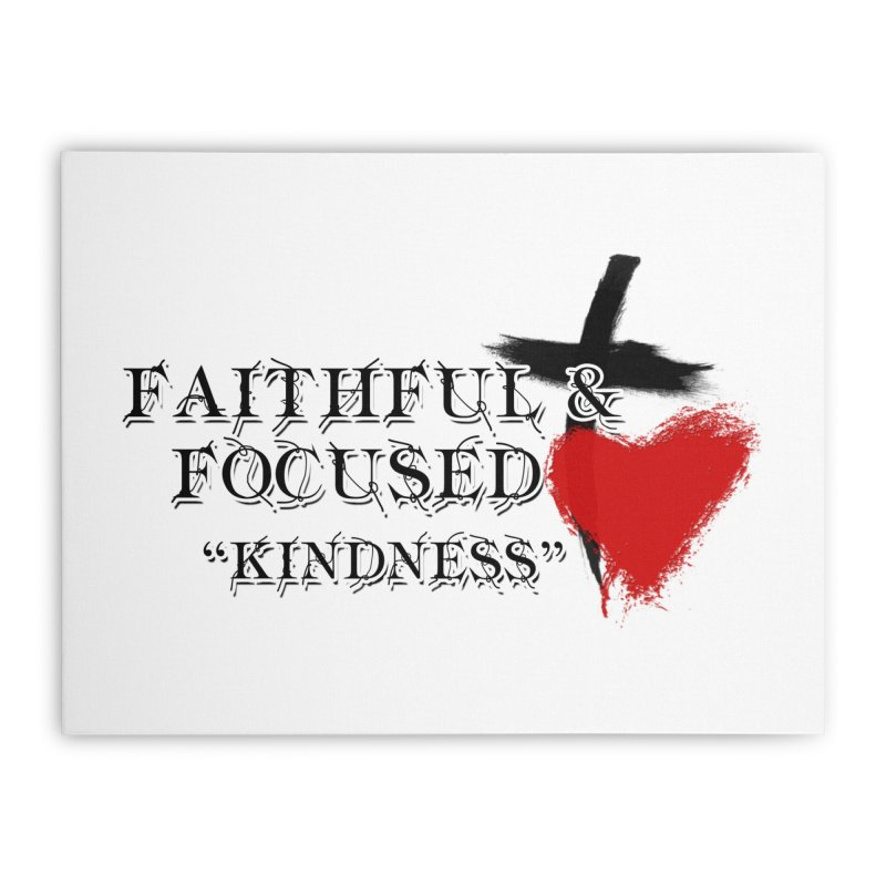 FAITHFUL HEART Home Stretched Canvas by Faithful & Focused Store