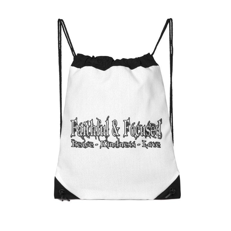 FAITHFUL & FOCUSED PEACE KINDNESS LOVE Accessories Bag by Faithful & Focused Store