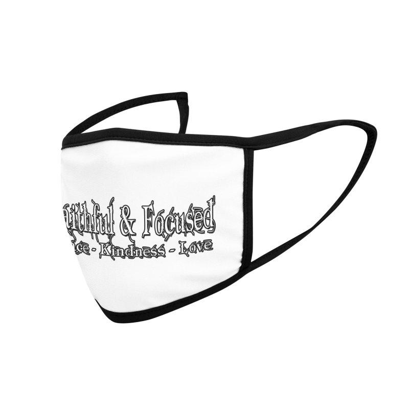 FAITHFUL & FOCUSED PEACE KINDNESS LOVE Accessories Face Mask by Faithful & Focused Store