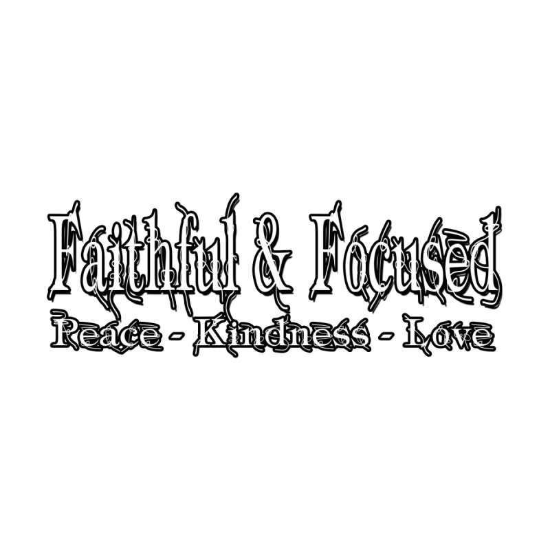 FAITHFUL & FOCUSED PEACE KINDNESS LOVE Home Mounted Aluminum Print by Faithful & Focused Store
