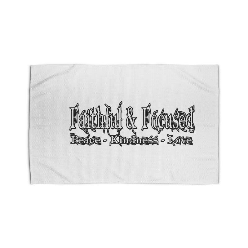 FAITHFUL & FOCUSED PEACE KINDNESS LOVE Home Rug by Faithful & Focused Store