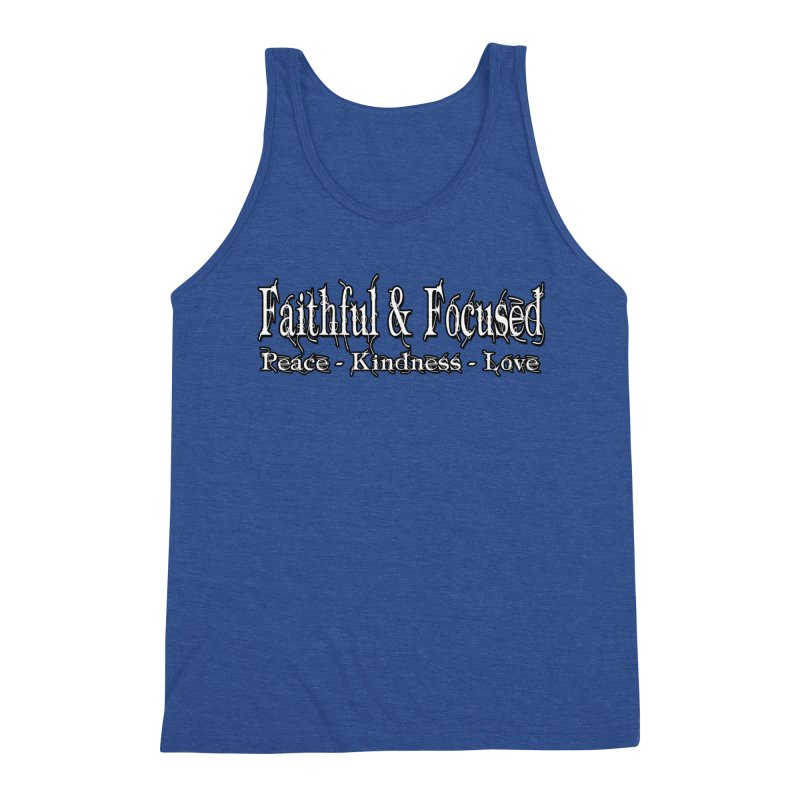 FAITHFUL & FOCUSED PEACE KINDNESS LOVE Men's Tank by Faithful & Focused Store