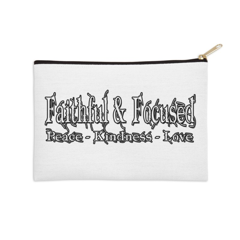 FAITHFUL & FOCUSED PEACE KINDNESS LOVE Accessories Zip Pouch by Faithful & Focused Store