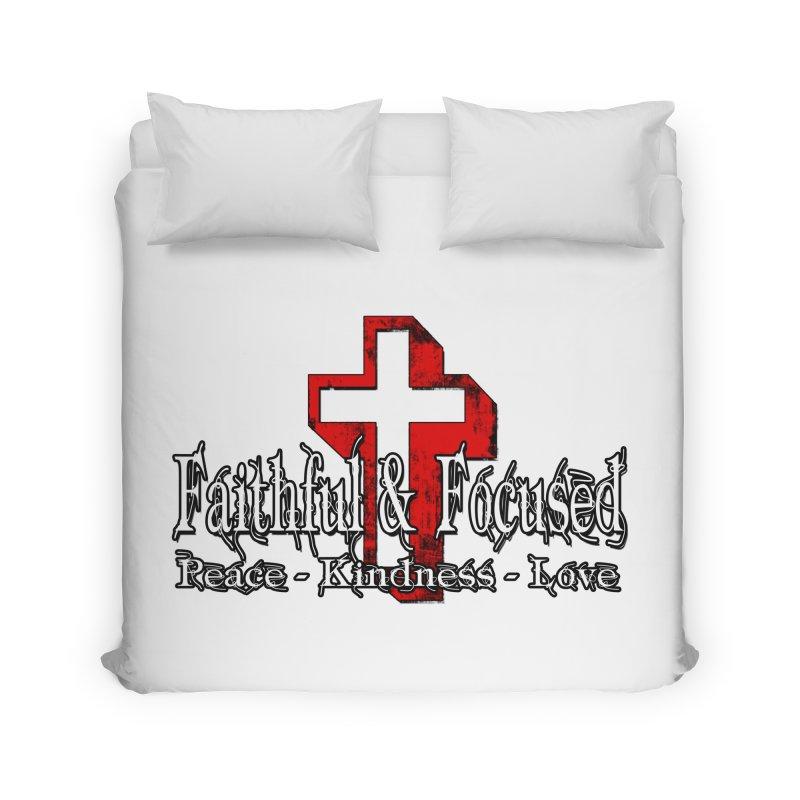 Red  Faithful Cross Home Duvet by Faithful & Focused Store