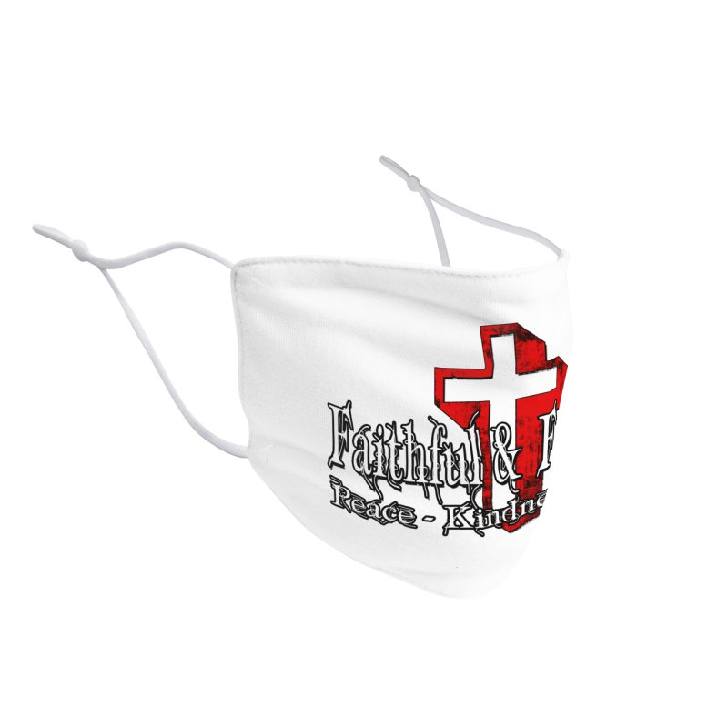 Red  Faithful Cross Accessories Face Mask by Faithful & Focused Store