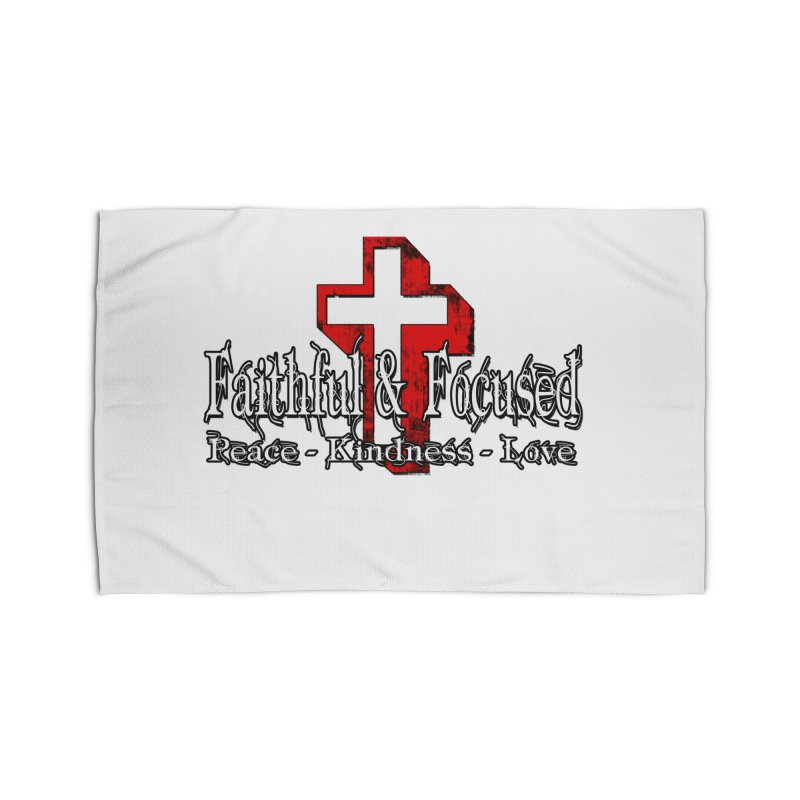Red  Faithful Cross Home Rug by Faithful & Focused Store