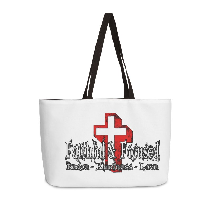 Red  Faithful Cross Accessories Bag by Faithful & Focused Store