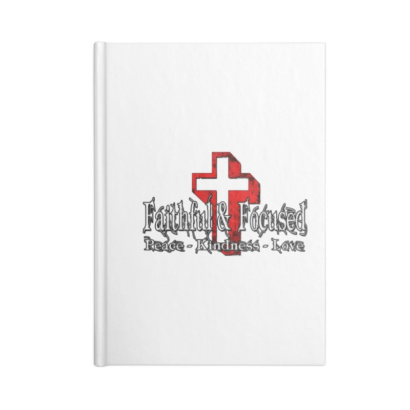 Red  Faithful Cross Accessories Notebook by Faithful & Focused Store