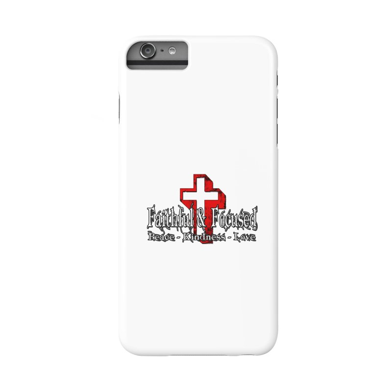 Red  Faithful Cross Accessories Phone Case by Faithful & Focused Store