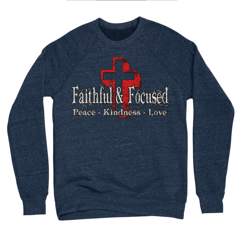 Red  Faithful Cross Women's Sweatshirt by Faithful & Focused Store