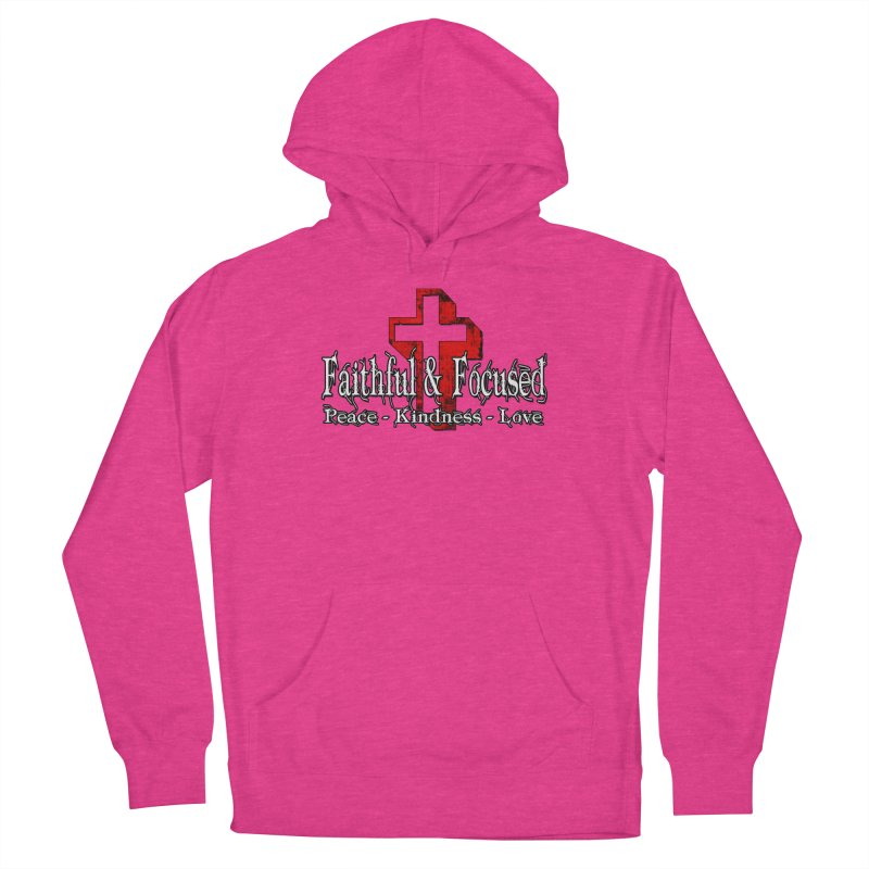 Red  Faithful Cross Women's Pullover Hoody by Faithful & Focused Store