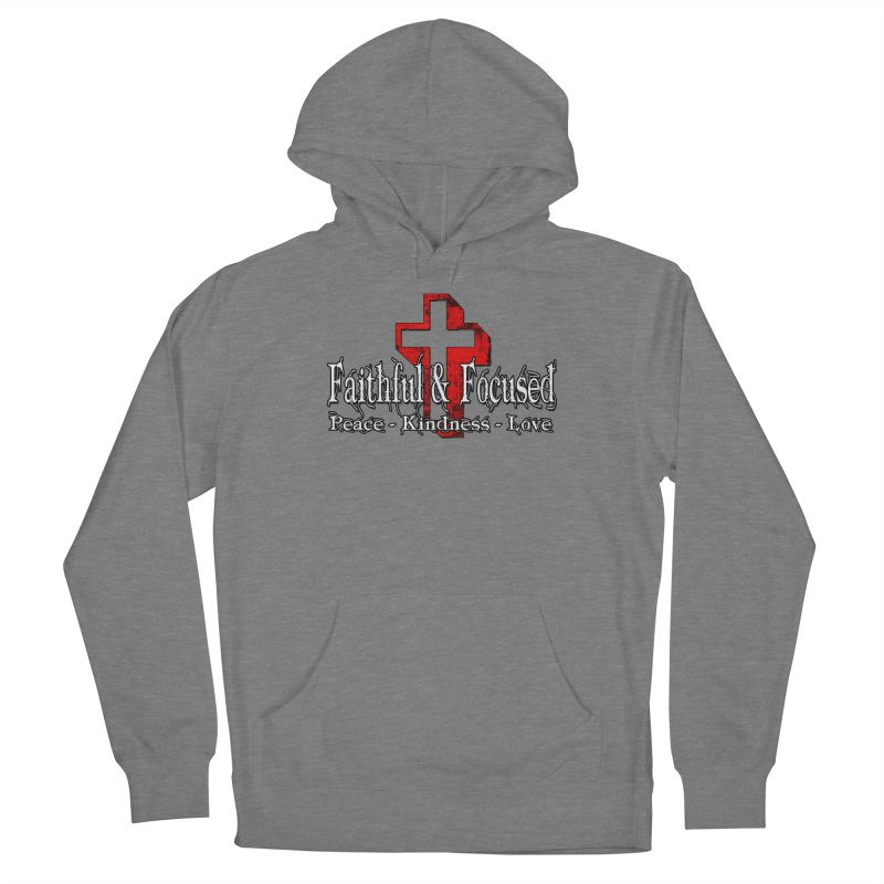 Red  Faithful Cross Men's Pullover Hoody by Faithful & Focused Store