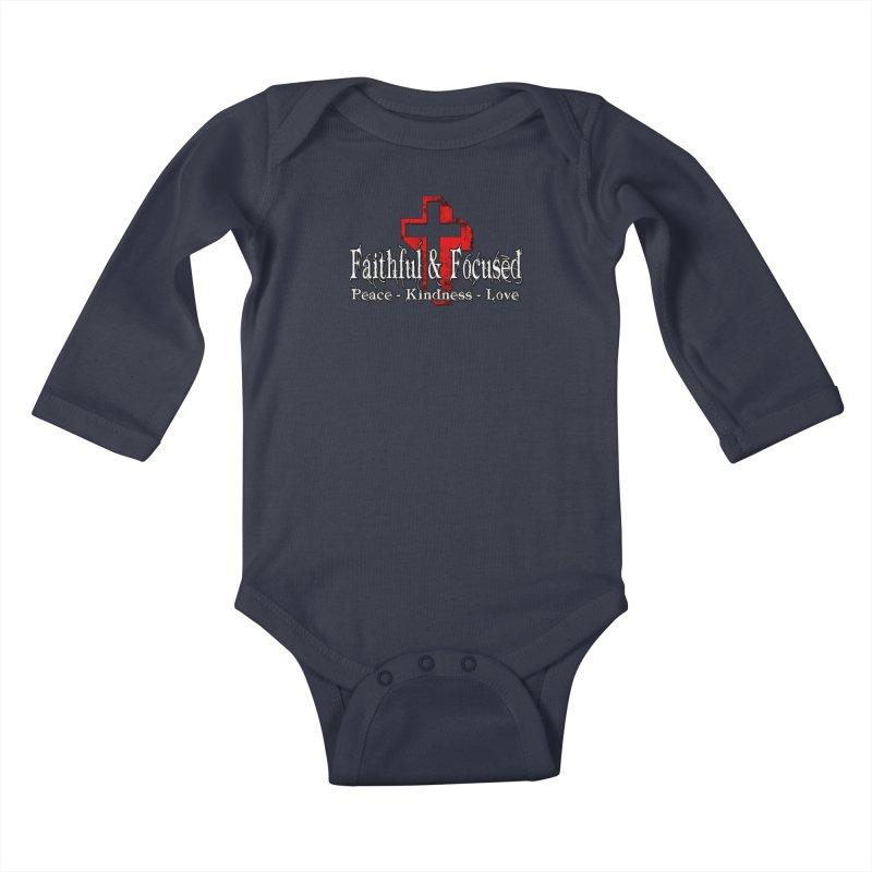 Red  Faithful Cross Kids Baby Longsleeve Bodysuit by Faithful & Focused Store