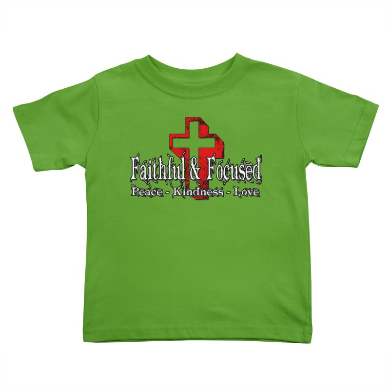 Red  Faithful Cross Kids Toddler T-Shirt by Faithful & Focused Store