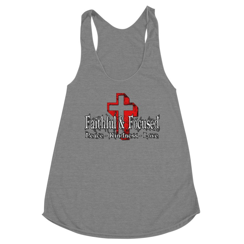 Red  Faithful Cross Women's Tank by Faithful & Focused Store
