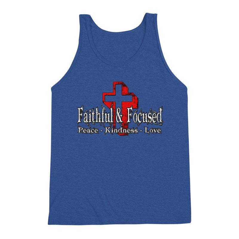Red  Faithful Cross Men's Tank by Faithful & Focused Store