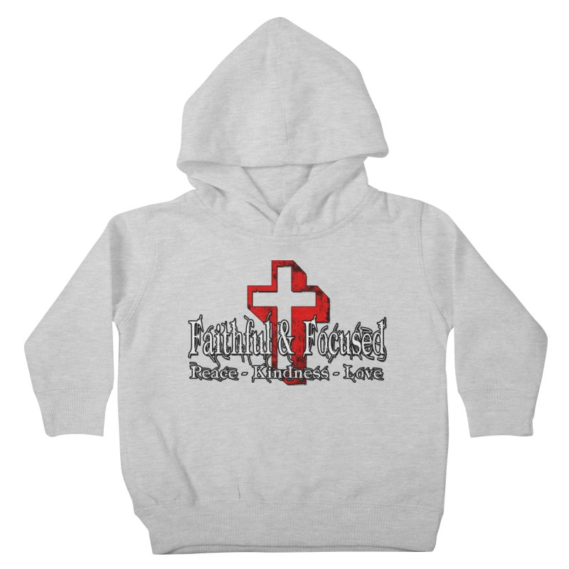Red  Faithful Cross Kids Toddler Pullover Hoody by Faithful & Focused Store