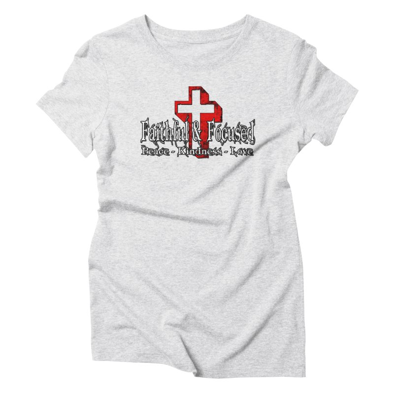 Red  Faithful Cross Women's T-Shirt by Faithful & Focused Store