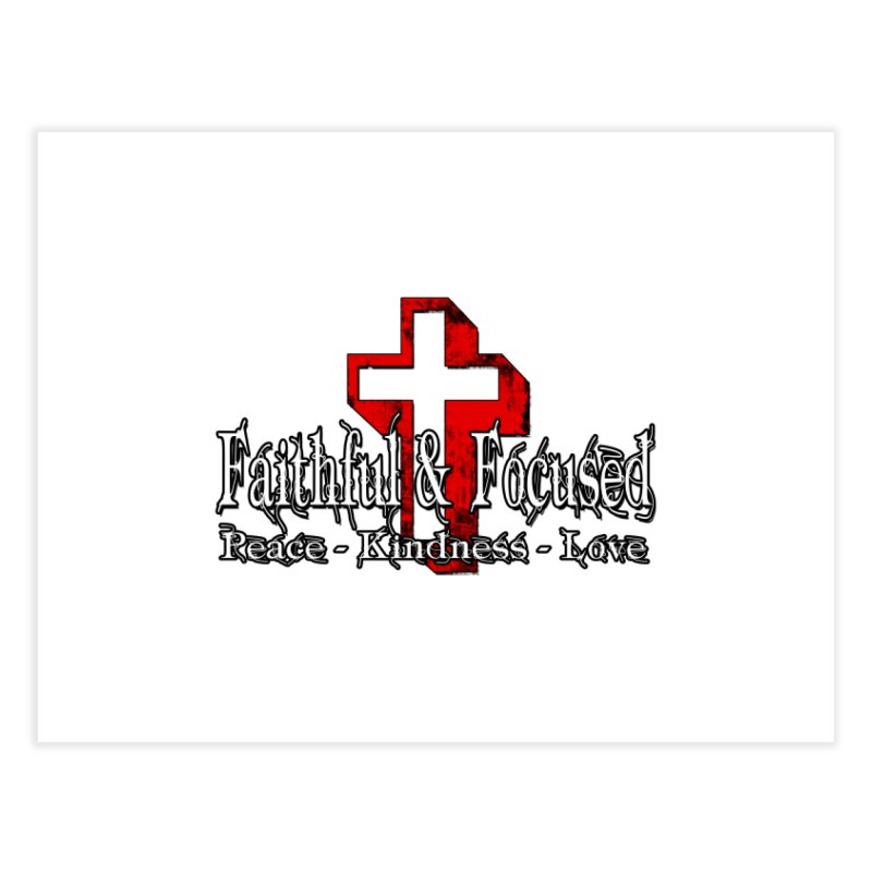 Red  Faithful Cross Home Fine Art Print by Faithful & Focused Store